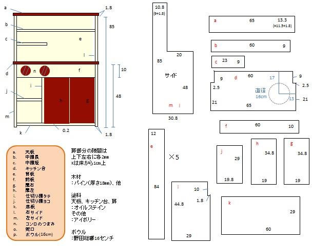 DIY おままごとキッチン① ...